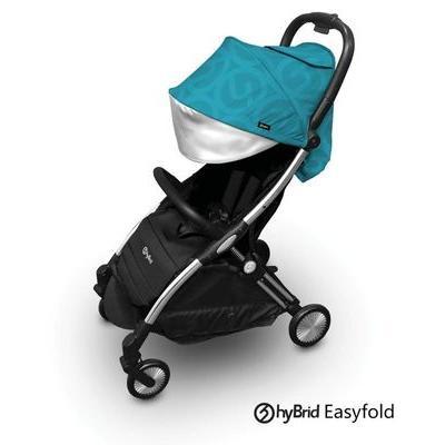 Baby Style hyBrid ľahký kočík Ezyfold, chrom silver rám + farebná strieška 2020