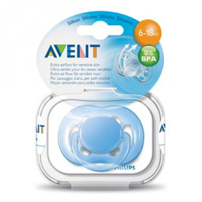 AVENT  Cumlík sensitive 6-18m 1 ks 0%BPA