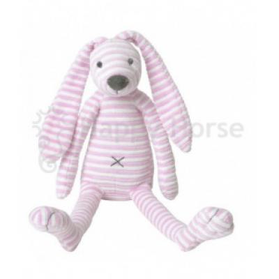 Ružový pruhovaný králiček Reece Happy Horse - 30cm