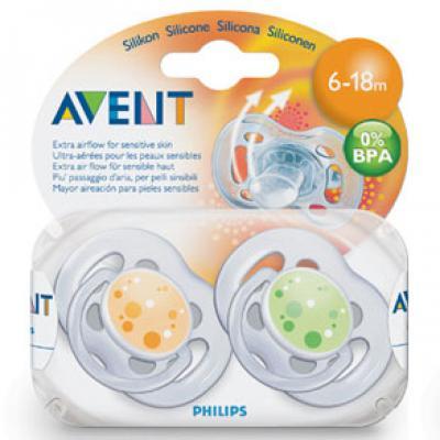 AVENT  Cumlíky sensitive 6-18m 2ks 0%BPA