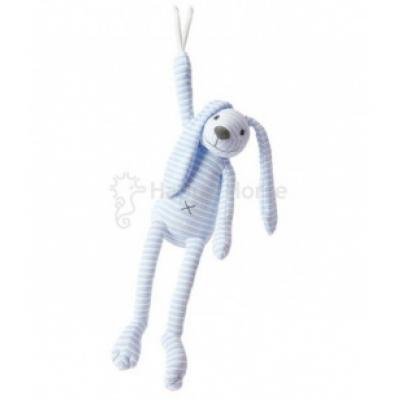 Modrý pruhovaný králiček Reece Happy Horse - Hudobný