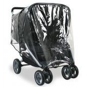 Pláštenka na kočík Valco Snap 4 Duo. Chráni vaše deti pred nepriaznivým počasím.