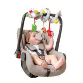 Plyšová špirála výrobca BenBat ponúka zábavný a hravý spôsob, ako posilniť kognitívnym vývoj dieťaťa a jeho motorické zručnosti. Zahŕňa 4 unikátne prvky - zrkadlo, hryzátko, hrkálka, a plastovou hviezdičku, ktoré hrkajú, šuští a hojdajú sa. Špirálu možno omotať okolo takmer akéhokoľvek kočíka, postieľky, autosedačky alebo hracie hrazdy.      Vhodné od narodenia     Rozmery: výška 23 cm, dĺžka 34 cm, šírka 12 cm  funkcia      Rozvíja detské zmysly a motorické zručnosti