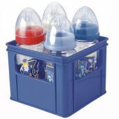 Tento praktický box je ideální pro skladování 4 širokých kojeneckých lahví. Určeno pro širší průměr láhve do 7,5 cm. Šikovné otvory po stranách boxu zajišťují praktickou manipulaci a přenášení. Rozměry: 16,5 x 16,5 x 13 cm Materiál výrobku: Polypropylen V souladu s požadovanými bezpečnostními normami. Vyrobený ve Francii