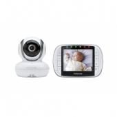 """Víťaz súťaže PRODUKT ROKU 2016 MBP36S je digitálny video pestúnka.  Vďaka digitálnej technológii poskytuje bezpečnú a veľmi kvalitnú komunikáciu medzi rodičovskou a detskou jednotkou.  Vďaka infračervenému nočnému videniu budete mať dobrý obraz aj v tme.  Obojsmerná komunikácia a veľký rozsah vám pomôže zostať v spojení s  dieťaťom z ľubovoľného miesta v dome, zatiaľ čo päť integrovaných  uspávaniek pomáha udržať dieťa v pokoji a pomáha dieťa uviesť späť do  spánku.  MBP36S je tiež vybavená displejom teploty v miestnosti, môžete tak  zaistiť, že dieťaťu nikdy nebude príliš horúco alebo príliš zima.  znaky:      Bezdrôtová technológia: 2,4 GHz FHSS     3,5 """"digitálny farebný displej     Dosah 180m **     Kamera sa natáča, nakláňa a má zoom     Infračervené nočné videnie     Vysoko citlivý mikrofón     Varovanie v prípade, že ste mimo dosahu jednotky     podstavec     ovládanie hlasitosti     Ukazovateľ izbovej teploty     Indikátor hladiny zvuku     Upozornenie na vybitú batériu     Dobíjacie batérie (Rodičovská jednotka)     5 uspávaniek     Funkcia rozdelenej obrazovky pre ďalšie rodičovskú jednotku   * Táto vzdialenosť platí len v prípade, že medzi rodičovskou jednotkou a  jednotkou dieťaťa nie je žiadna prekážka. Akákoľvek prekážka medzi  rodičovskou jednotkou a jednotkou dieťaťa môže znížiť túto vzdialenosť.  Typická vzdialenosť pri použití jednotiek doma je približne 30m (táto  vzdialenosť je len orientačná)"""