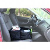 Praktický a skladný organizér do auta ZOPA je ideální pomocník pro  cestování s dětmi. Je designován pro perfektní ukládací možnosti. Je  snadno rozložitelný, nezabere tedy mnoho místa a můžete ho s sebou  zabalit do zavazadla, či do cestovní příruční tašky. Jeho dvě rukojeti  zaručí pohodlné a snadné přenášení. Dá se také snadno upevnit v autě  pomocí pásů. Disponuje několika úložnými kapsami pro uložení nápojů či lahví, či  jiných drobností a kapsou na zip. Dvě velké úložné prostory poskytují  dostatečné místo pro organizované skladování všech potřebných věcí na  cestách.      Čištění je možné suchým nebo mírně vlhkým hadříkem.     Vnější vrstva - 100% polyester     Rozměry: Výška v nejvyšší části: 23,5 cm     Výška v nejnižší části: 16 cm     Šířka v nejširší části: 25 cm     Šířka v nejužší části: 24 cm     Celková délka: 47 cm