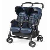 ARIA SHOPPER TWIN   Nová, vylepšená verzia známeho kočíka Peg Perego Aria Twin, ktorý je určený pre dvojčatá alebo pre deti podobného veku. Kočík má väčšie kolesá pre lepšiu ovládateľnosť a v zloženom stave je kompaktnejšia. Ďalej je kočík vybavený novým držadlom v napodobenine kože a väčším košíkom. Aria Shopper Twin je vhodná pre deti od 6 mesiacov a v zloženom stave stojí samostatne.   Dvojitá kolesá - predné s aretáciou, zadné s brzdou - sú odpružené a uľahčujú každodenné cestovanie. Veľmi nízka hmotnosť (len 8,3 kg), bočné madlo na nosenie a samostatne polohovateľné opierky chrbta sú ďalšími príkladmi perfektné výbavy tohto dvojčatového kočíka. Pred ostrým slnkom vaše dieťa ochráni veľké nastaviteľné striešky s okienkom a slučkou pre zavesenie hračky   vlastnosti: - vhodné pre deti od 6 mesiacov - v zloženom stave stojí samostatne - predné madlá s napodobeninou kože - veľký košík - kompaktné rozmery po zložení - nízka hmotnosť - podvozok z lakovaného hliníka   Rozmery: - rozložený (D x Š x V): 77,5 x 77 x 101 cm - zložený (D x Š x V): 27,5 x 77 x 91 cm - priemer kolies: 14,5 cm   Hmotnosť: 8,3 kg