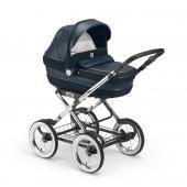 Pro dítě ve věku:      0-36 měsíců;  Vlastnosti: HLUBOKÁ KORBA:  Schválena pro automobilovou přepravu (0-10 kg), velmi prostorná, s  Quicky System – velice jednoduchý a rychlý upínací systém, s polohovací  rukojetí, opěrka zad nastavitelná do 3 poloh, prodyšná matrace, dostupná  ve 2 modelech: jeden je s neoprenovými vložkami a karystalovými  aplikacemi, další s eko-kůží a potaženou rukojetí, stříška s moskytiérou  (pouze v eko-kožené verzi), ventilovaná houpací základna, taška s  přebalovací podložkou. SPORTOVNÍ VERZE:  Hliníkový podvozek s nastavitelným a oboustranným sedátkem (proti  směru jízdy 0-12 měsíců a po směru jízdy 12-36 měsíců) díky  patentovanému systému Via Vai System Reverse, ručně šitá nastavitelná  rukojeť z pravé kůže, snadno odnímatelná nafukovací velká kola, jemné  přední a zadní odpružení, synchronizovaná brzda, jednou rukou  nastavitelná opěrka zad do 4 různých pozic, nastavitelné polohování  nohou, odnímatelná hrazda, vyztužené sportovní sezení, područky, 5-ti  bodový bezpečnostní pás. Přidané příslušenství: měkká vložka, hluboká  korba, nánožník, pláštěnka, nákupní košík. Odnímatelné a pratelné potahy  na 30°C. Kompaktní skládání se sportovním sezením po i proti směru. AUTOSEDAČKA: Podléhá evropské normě ECE E44/04 pro skupiny 0+ (0-13 kg) s boční  ochranou proti nárazu, anatomická opěrka hlavy a polstrováním pro  ochranu nezpevněných zad dítěte, odepínatelná stříška, polstrované  bezpečnostní pásy a mezinožní pás, praktický mechanismus pro nastavení  pásů, nastavitelné vedení pásů, houpací základna s protiskluzovou gumou.  Lze připevnit do polohy proti směru jízdy pomocí 3 bodového  bezpečnostíního pásu v automobilu. Volitelné příslušenství: Báse na uatosedačku Area Base art. S134, Safery Car Kit art. V483,  Stojan na hlubokou korbu a autosedačku art. 700, Rukavice art.  055,Slunečník art. 060, Slunečník s kamínky art. 065. ROZMĚRY A VÁHA:      Rám/ sožený: D 60 – Š 85 – V 39 cm, váha: 10,2 kg     S korbou: D 60 – Š 122,5 – V 122 cm, váha 1