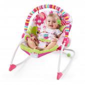 Komfortné vibrujúce húpatko Raspberry Garden™ rozmaznáva každú malú princeznú a rastie spolu s ňou.  - sedadlo sa môže nastaviť do polohy húpatka a pohupovať tam a späť pre upokojenie dieťaťa, alebo môže byť nastavené do pevnej polohy, čo je ideálne pre bábätká a staršie batoľatá - technológia ComfortRecline™ zabezpečuje pohodlné polohovanie celého sedadla do 2 pozícií a udržuje telíčko dieťaťa po celú dobu v pohodlí - upokojujúce vibrácie - odnímateľná hrazdička pre ľahší prístup k dieťatku s 2 hračkami - obsahuje 5-bodové bezpečnostné pásy - odnímateľný poťah a opierku hlavy je možné prať v práčke - pre deti od narodenia až do 18 kg - húpatko vyžaduje 1 C (LR 14) batériu, ktorá nie je súčasťou balenia - nákupom tohto produktu podporujete charitatívnu organizáciu zameranú na výskum rakoviny prsníka Pink Power Mom™  Rozmery produktu: 86,4 cm x 71,1 cm x 61cm