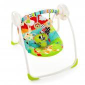 Pohodlie, čas na hranie, zábavný dizajn a to všetko s rýchlosťou hojdania, ktorá dieťatku vyhovuje  Vhodné od narodenia do 9 kg  VLASTNOSTI VÝROBKU 01 Technológia TrueSpeed ??™ udržuje 6 rýchlostí, ako dieťa rastie 02 Sklopenie sedadla do dvoch polôh vďaka technológii Comfort Recline ™ 03 Odnímateľnú hrazdu s hračkami je možné odklopiť pre ľahký prístup k dieťaťu, obsahuje 2 očarujúce hračky  ĎALŠIE VLASTNOSTI • Vyžaduje použitie 4 C batérií (nie sú súčasťou balenia) • Veľmi tichý chod (WhisperQuiet ™) • Päťbodové popruhy, protišmykové nožičky • Jednoduché skladanie uľahčuje skladovanie či cestovanie • Polstrovanie sedátka možno prať v práčke • rozmery výrobku: 57,15 x 72,39 x 58,42 cm (š xh x v) • rozmery balenia: 55,88 x 12,7 x 36,2 cm (š xh x v)