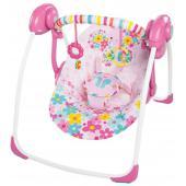 Popis produktu   Skladacia hojdačka, ktorá šetrí Váš čas aj priestor. Rozkošná hojdačka Butterfly Cutouts od Bright Starts zabaví každú malú princeznú a poskytne jej potrebný komfort.  - vhodné pre deti od narodenia až do 9 kg - funkcia WhisperQuiet™ zabezpečuje tichý chod hojdačky - technológia ComfortRecline™ zabezpečuje pohodlné polohovanie celého sedadla do 2 pozícií a udržuje telíčko dieťaťa po celú dobu v pohodlí - odnímateľná hrazdička pre jednoduchší prístup k dieťaťu s 2 hračkami - technológia TrueSpeed™ zabezpečuje konzistentné a spoľahlivé hojdanie v 6 rýchlostiach, systém automaticky rozpozná váhu dieťaťa a prispôsobí rýchlosť húpania jeho váh - ľahko sa skladá, šetrí miesto a ľahko sa s ňou cestuje - odnímateľný poťah pre ľahšie čistenie - hojdačka obsahuje 5-bodové bezpečnostné pásy - protišmykové nožičky - hojdačka vyžaduje 4 C (LR 14) batérie, ktoré nie sú súčasťou balenia - nákupom tohto produktu podporujete charitatívnu organizáciu zameranú na výskum rakoviny prsníka Pink Power Mom™  Rozmery produktu: 57,15 cm x 58,42 cm x 72,39 cm