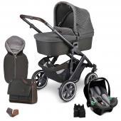 """Štartová set Salsa 4 Air  - 3 v 1 kombinovaný kočík pre deti od narodenia so športovým sedením a vaničkou - špeciálna designy: výrazný a sebavedomý vzhľad s vysoko kvalitným hliníkovým podvozkom a štýlovými látkami - rozličné sety s praktickým príslušenstvom  fashion Edition  Trendy. Odvážne. Jedinečné. Vyrobený pre prehliadkové móla. Kombinácia pôsobivých potlačí, limitovaných farieb a štýlového vkusu pre silne individuálny vzhľad. Kolekcia Fashion Edition ponúka výrazné farby, originálne doplnky, nápadité kontrasty a vybrané detaily pre vytvorenie niečoho výnimočného.  Cornet  Moderné prevedenie """"Cornet"""" sa pýši smelým a unikátnym piqué dizajnom látky. Štruktúra látky v tvare včelieho plástu so svetlo modrým protkáváním nie je len štýlovú pastvou pre oči: nezameniteľný pocit pri dotyku budí úžas a treba ho zažiť. Elegantný hliníkový podvozok je pre dizajn """"Cornet"""" dokonalú čerešničkou na torte.  Vychutnajte si čistú radosť zo života s 3 v 1 kombinovaným kočíkom Salsa 4 Air. Je dynamický, vrtký a ľahký. Je to kočík s osobnosťou, ktorý bude vás a vaše dieťa sprevádzať už od prvého dňa. Pýši sa kompaktnými rozmermi po zložení a nízkou hmotnosťou pre jednoduché prenášanie. Akonáhle sa vaše dieťa naučí chodiť, môžete vaničku vymeniť za pohodlné otočné športové sedenie. Kým otočné predné kolesá dávajú kočíka jeho skvelú ovládateľnosť, vysoko kvalitné guličkové ložiská, integrované odpruženie a veľké nafukovacie kolesá zaisťujú hladkú a tichú jazdu aj na tých najväčších dobrodružstvách. Užite si s kočíkom Salsa 4 Air výrazné momenty a vytvorte si spomienky na celý život. Zažite kočík Salsa 4 Air v praktických kombi-setoch sa skvelým príslušenstvom v zodpovedajúcom vzhľade.  Funkcie a vlastnosti produktu: Autosedačka - kompatibilita parkovacia brzda Výškovo nastaviteľná opierka nôh Umývateľná opierka nôh nafukovacie kolesá odnímateľná kolesá Odpruženie kolies s guličkovými ložiskami Polohovateľná opierka chrbta Výškovo nastaviteľná rukoväť Odnímateľná bezp. madlo Ochranný"""