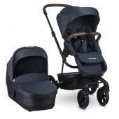 Set obsahuje: športový kočík a vaničku  Harvey3 Premium = elegantná jazda.  Harvey3 Premium bol navrhnutý pre rodičov, ktorí si cenia skvelý štýl a optimálnu funkčnosť. Vysoko kvalitné textílie a koženkové detaily dodávajú tomuto kočíku luxusný a prvotriedny vzhľad. Svoje veci môžete bezpečne nosiť vo veľkom, uzavretom koši a reflexný prúžok na kolieskach zaručuje viditeľnosť aj v noci. Vďaka mimoriadne hladkej jazde na každom povrchu je Harvey3 Premium najpohodlnejším a najelegantnejším kočíkom svojho druhu.  Harvey3 je kočík, ktorý v kategórii kombinovaných kočíkov vyniká svojou kompaktnosťou a zároveň sa dá používať rozličnými spôsobmi. Je to prvý rozšíriteľný kočík na trhu, ktorý rastie spolu s Vašou rodinou. Je to elegantný, ľahký a kompaktný kočík. V prípade, že sa Vaša rodina rozrastie o ďalšie dieťa, Harvey3 možno pomocou jednoduchej úpravy rozšíriť na súrodenecký kočík. Môžete umiestniť športové sedadlo a vaničku, autosedačku a vaničku, dve sedadlá alebo inú potrebnú kombináciu (vaničky, autosedačka, druhá športová časť, sa dokupujú zvlášť). Kočík, ktorý poskytuje najlepšie riešenie pre každé obdobie Vašej rodiny.  V porovnaní s ostatnými značkami kombinovaných kočíkov na trhu, je tento kočík zo všetkých najľahší a najkompaktnejší. Najhladšia jazda, práve takto možno charakterizovať prechádzku s kočíkom Harvey3, vylepšeným nasledovníkom kočíka Harvey2 a Harvey.  Vlastnosti:  - ľahký (10,9 kg) - vyznačuje sa ľahkosťou pri používaní, väčšie kolesá s bielym prúžkom - najpohodlnejšia jazda - ľahké manévrovanie - mono kočík, ktorý sa môže rozšíriť do tandemu a späť - pre deti od 6 mesiacov do 4 rokov, s výškovými adaptérmi do 3 rokov - s vaničkou Harvey3 možno kočík používať už od narodenia - nosnosť športovej časti je do 22 kg bez výškových adaptérov a 15kg s výškovými adaptérmi - udržateľné textílie sú vyrobené z recyklovaných plastových fliaš - odpruženie všetkých kolies - predné kolieska s možnosťou aretácie - hladká a pohodlná jazda na nerovnom teréne vďaka