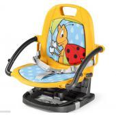 RIALTO  Přenosná židlička, kterou lze snadno rozložit, složit a přenést  kamkoliv potřebujete díky praktické transportní tašce (součástí balení).  Ideální na cesty a výlety. Židlička Rialto je vhodná pro děti od 9  měsíců do 3 let a lze ji používat s i bez podnosu.  Vlastnosti: - protiskluzové podložky na spodní straně židličky, které jsou v kontaktu se židlí - upevnění k židli pomocí popruhů - nastavitelná do pěti výškových poloh (6-18 cm nad židlí) - tříbodový systém bezpečnostních pásů a podnos bezpečně zajišťují dítě - polstrování z umělé kůže lze odejmout a očistit vlhkým hadříkem - praktická transportní taška  Rozměry:  sestavená: 38 x 45,5 x 45 cm (š x v x h) složená: 38 x 13,5 x 37,5 cm (š x v x h)  Váha: 3 kg