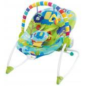 Komfortné vibrujúce húpatko Merry Sunshine™ rozmaznáva dieťatko a rastie spolu s ním.  - sedadlo sa môže nastaviť do polohy húpatka a pohupovať tam a späť pre upokojenie dieťaťa, alebo môže byť nastavené do pevnej polohy, čo je ideálne pre bábätká a staršie batoľatá - technológia ComfortRecline™ zabezpečuje pohodlné polohovanie celého sedadla do 2 pozícií a udržuje telíčko dieťaťa po celú dobu v pohodlí - upokojujúce vibrácie - odnímateľná hrazdička pre ľahší prístup k dieťatku s 2 hračkami - obsahuje 5-bodové bezpečnostné pásy - odnímateľný poťah je možné prať v práčke - pre deti od narodenia až do 18 kg - húpatko vyžaduje 1 C (LR 14) batériu, ktorá nie je súčasťou balenia  Rozmery produktu: 86 cm x 71 cm x 61 cm