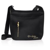 TAŠKA NA PLIENKY Čierna CYBEX PRIAM taška na plienky z kolekcie Jeremy Scott so zlatými detailmi je vybavená vodeodolnou priehradkou, držiakom nápojov, prebaľovací podložkou a dodatočnú vonkajším vreckom s nádherným zlatým zipsom v tvare krídla.