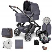 """Štartová set Salsa 4 Air  - 3 v 1 kombinovaný kočík pre deti od narodenia so športovým sedením a vaničkou - špeciálna designy: výrazný a sebavedomý vzhľad s vysoko kvalitným hliníkovým podvozkom a štýlovými látkami - rozličné sety s praktickým príslušenstvom  fashion Edition  Trendy. Odvážne. Jedinečné. Vyrobený pre prehliadkové móla. Kombinácia pôsobivých potlačí, limitovaných farieb a štýlového vkusu pre silne individuálny vzhľad. Kolekcia Fashion Edition ponúka výrazné farby, originálne doplnky, nápadité kontrasty a vybrané detaily pre vytvorenie niečoho výnimočného.  stone Na ceste s najlepšími priateľmi na svete: motív roztomilého psa vnútri korbičky sprevádza a robí radosť rodičom i deťom. Vonkajšia látka korbičky a športového sedenie je zámerne ponechaná v decentnej tmavo šedá, ktorá zvýrazňuje štýlový vzhľad kočíka. Elegantné kolesá s bielym pruhom a osobitý hliníkový podvozok farbe dokonale dokresľujú design """"stone"""".  Vychutnajte si čistú radosť zo života s 3 v 1 kombinovaným kočíkom Salsa 4 Air. Je dynamický, vrtký a ľahký. Je to kočík s osobnosťou, ktorý bude vás a vaše dieťa sprevádzať už od prvého dňa. Pýši sa kompaktnými rozmermi po zložení a nízkou hmotnosťou pre jednoduché prenášanie. Akonáhle sa vaše dieťa naučí chodiť, môžete vaničku vymeniť za pohodlné otočné športové sedenie. Kým otočné predné kolesá dávajú kočíka jeho skvelú ovládateľnosť, vysoko kvalitné guličkové ložiská, integrované odpruženie a veľké nafukovacie kolesá zaisťujú hladkú a tichú jazdu aj na tých najväčších dobrodružstvách. Užite si s kočíkom Salsa 4 Air výrazné momenty a vytvorte si spomienky na celý život. Zažite kočík Salsa 4 Air v praktických kombi-setoch sa skvelým príslušenstvom v zodpovedajúcom vzhľade.  Funkcie a vlastnosti produktu: Autosedačka - kompatibilita parkovacia brzda Výškovo nastaviteľná opierka nôh Umývateľná opierka nôh nafukovacie kolesá odnímateľná kolesá Odpruženie kolies s guličkovými ložiskami Polohovateľná opierka chrbta Výškovo nastaviteľná rukoväť Od"""